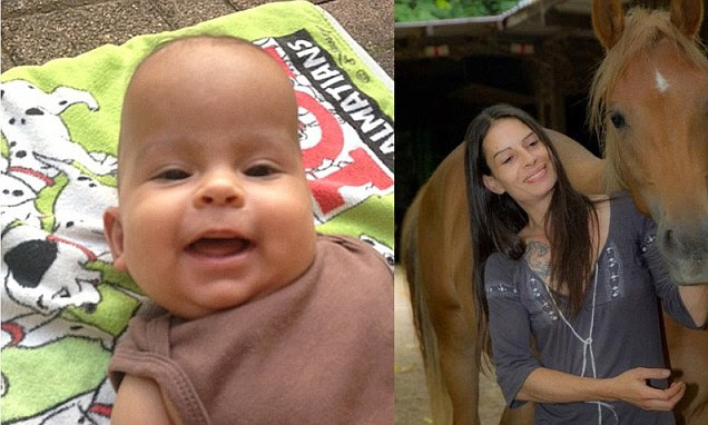Tragedy: Katharina Katit-Staheli, 40, stabbed her son Dylan to death after losing a custody battle and going on the run