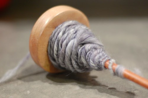 First Handspun - spindle