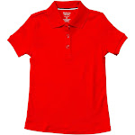 French Toast Little Girls Solid Picot Uniform Polo Shirt