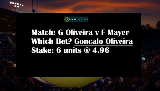Goncalo Oliveira v Florian Mayer Tips | Challenger Szczecin 13/09/2017 | Tennis Betting Tips