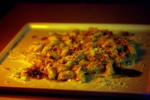 Gnocchi with almond pesto