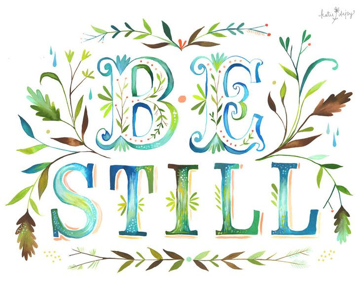 Be Still. $18.00, via Etsy.