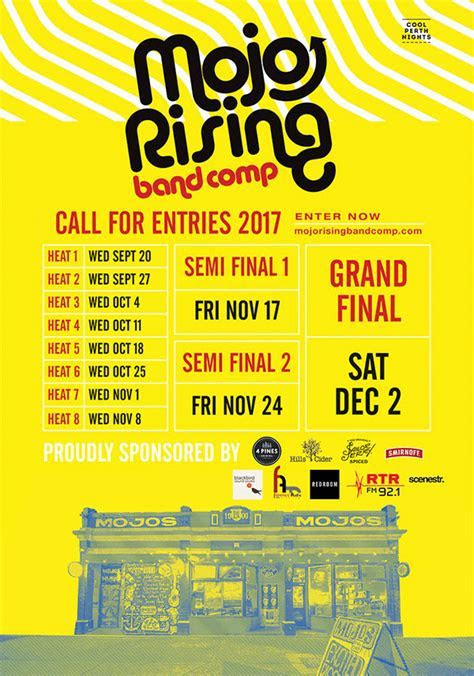 MOJO RISING Band Comp   Calling all bands, producers, solo