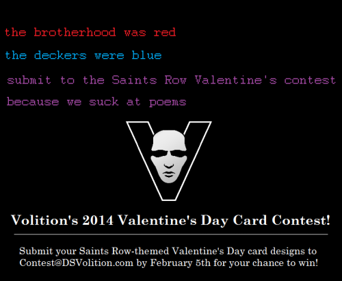 Deep Silver Volition • Saints Row Valentine's Day Card Contest! We think...