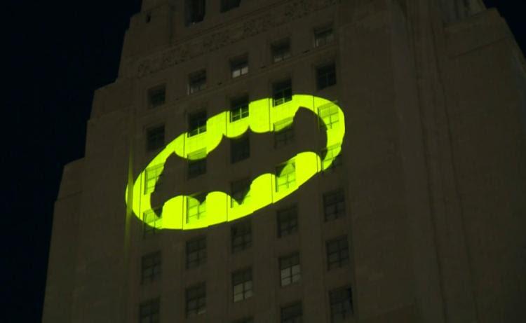 Bat Signal Over La Davidmorefieldcom