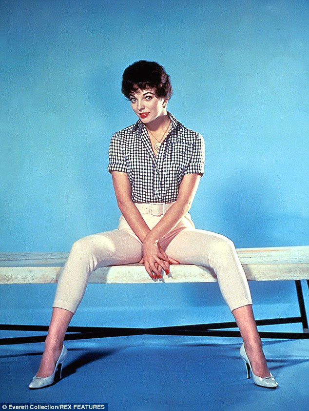 If Joan Collins (pictured in 1958) had taken Madame Claude up on the offer, she would have had to strip - as all her potential girls did - to ensure she had a 'perfect figure'
