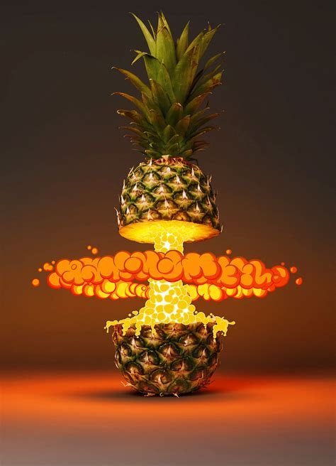 Creative Pineapple Flame Poster Background, Originality