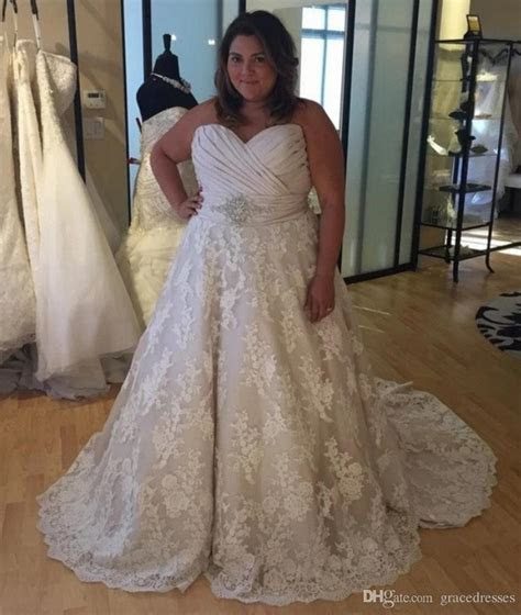 Plus Size Wedding Dress Ball Gown Ruched Sweetheart Empire