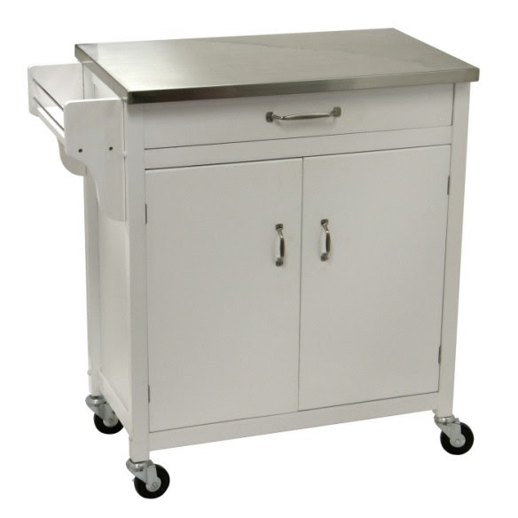 Kitchen island cart stainless steel top kitchen design photos ...