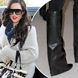 Thrifty Khloe Kardashian recycles Kim's old Louis Vuitton bag... and she's got her sister's $1,695 Givenchy boots on too!