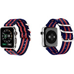 Aduro Nylon Buckle Band for Apple Watch Series 1, 2, 3, & 4 38/40 / Red Stripe