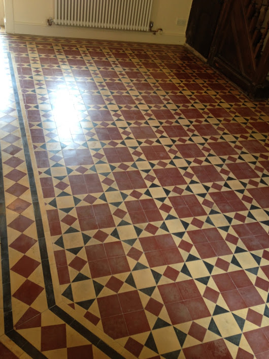 Lifeless Victorian Tiled Hallway Rejuvenated in the Caldicot | Monmouthshire Tile Doctor