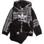 Adidas Toddler Boys' Bandana Hoodie & Pant Set Black/White 12 Mo.