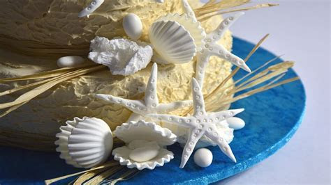 Beach Wedding Cake Tutorial   YouTube