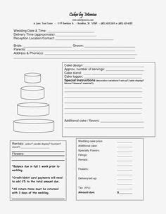 Download Wedding Cake Order Form   Luscious Lane Bakery in