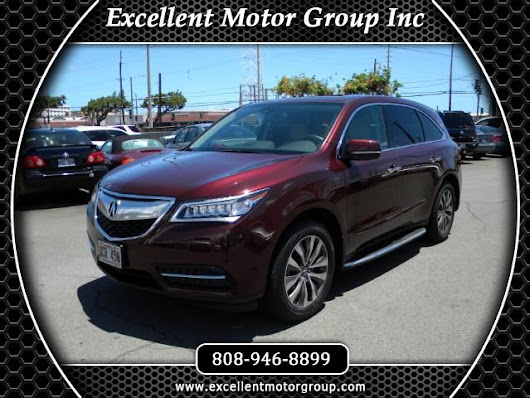 Used 2014 Acura MDX 6-Spd AT w/Tech Package for Sale in Honolulu HI 96817 Excellent Motor Group Inc