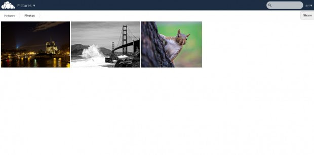 Owncloud Picture Library