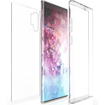 Galaxy Note 10 Plus Case, New 360-Degree Wrap [Full-Body Protection] Transparent TPU Slim Cover [Built-In Screen Guard] for Samsung Galaxy Note 10+