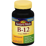 Nature Made Vitamin B-12, 1000 mcg, Time Release Tablets - 160 tablets