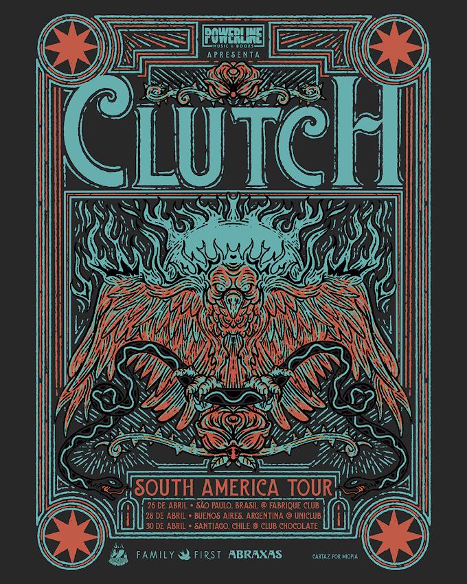 Clutch, ícone mundial do hard rock/stoner, volta ao Brasil em abril de 2020