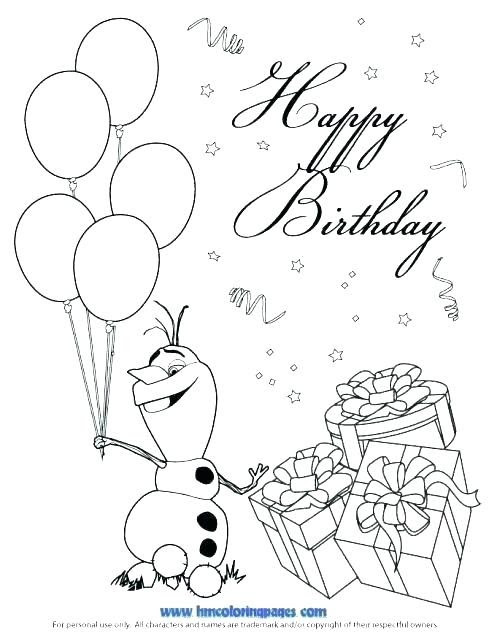 Mickey Mouse Happy Birthday Coloring Page at GetColorings ...