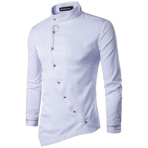 2019 Wholesale Irregular Shirt Men 2017 New Long Sleeve