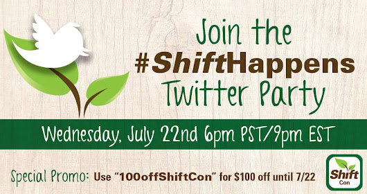 Join the #ShiftHappens Twitter Party July 22nd - Mamavation
