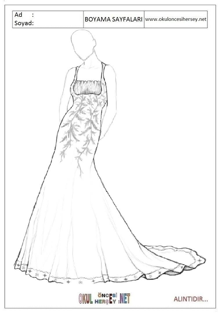 Elbise Boyama Sayfaları