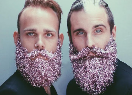 Hipster Glitter Beards for the Holidays