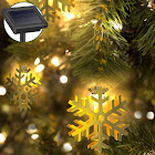 Holiday Decorative String Lights by Gideon 20 LED Solar Powered Hollow Metal Snow-Flake Fairy Lights for The Holidays and Christmas Decorations