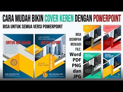 Cara Mudah Membuat Sampul Cover yang Bagus | Untuk Cover Makalah, Propos...