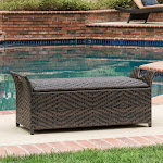 Best Selling Home Decor Wing Outdoor Storage Bench, Brown