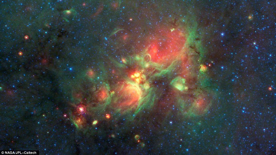 "Volunteers using the web-based Milky Way Project brought star-forming features nicknamed ""yellowballs"" to the attention of researchers, who later showed that they are a phase of massive star formation."