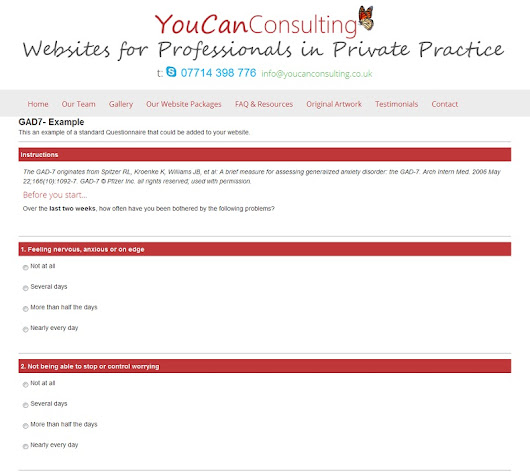 Online Psychological Assessments for Therapy Sites - Websites for Therapists by YouCan