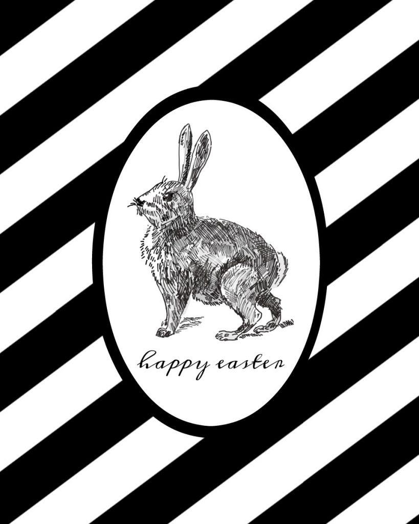 Free Black And White Easter Printable Taryn Whiteaker