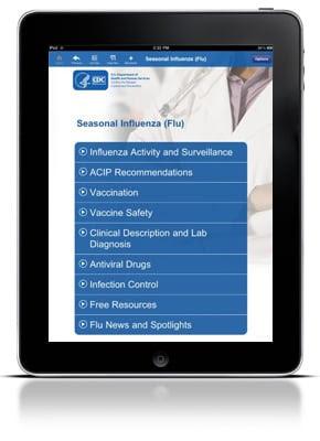 CDC Influenza iPad Screenshot
