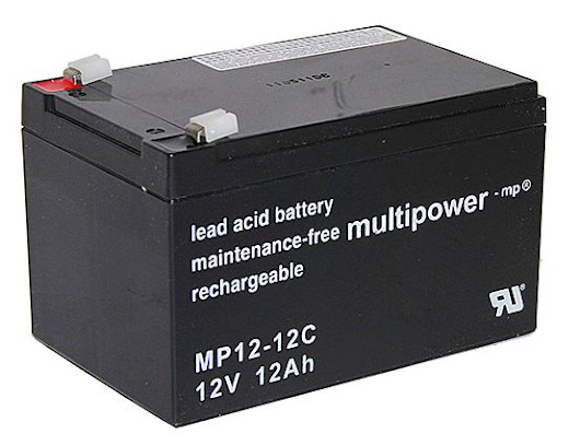 multipower MP12-12C 12V/12Ah - wartungsfrei, AGM,zyklenfest