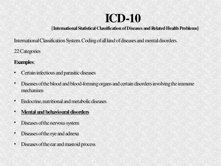 Psychiatric Disorders: History. Classification. Prevalence ...