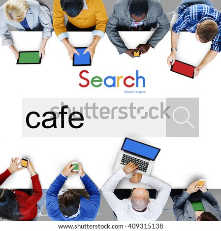 Cafe Small Business Coffee Shop Dining Concept - stock photo