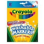 Crayola 58-7808 Washable Broad Line Marker, Classic Colors (8-count)