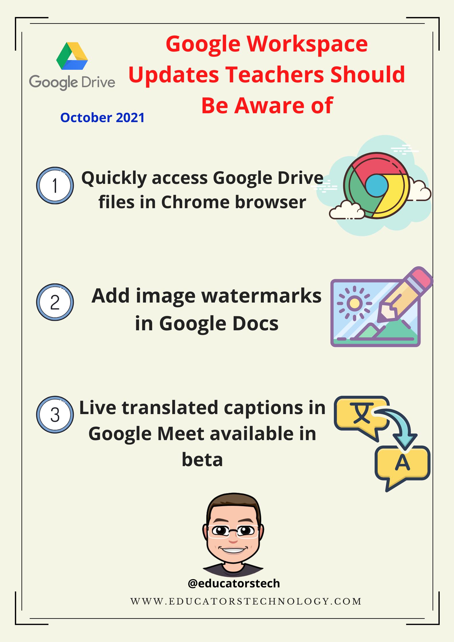 3 Important Google Workspace Updates Teachers Should Know about