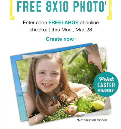 Walgreens FREE Photo Print 8×10 Today (3/28) Only! ~