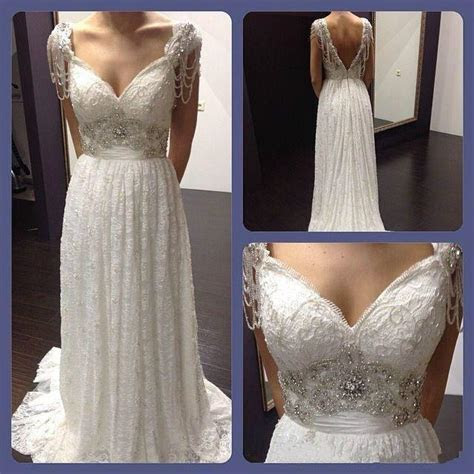 Real Picture 2016 Lace Beads Wedding Dresses Crystal A