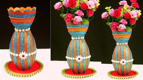 diy plastic bottle reuse flower vase craft idea