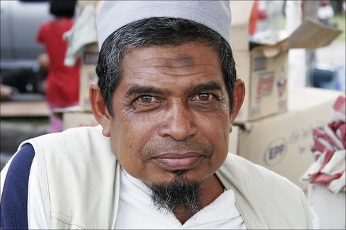 Muslim man at the Phuket Halal Expo
