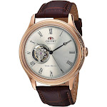 Orient Men's Envoy Japanese Automatic/Hand Winding Movement Stainless Steel Leather Dress Watch