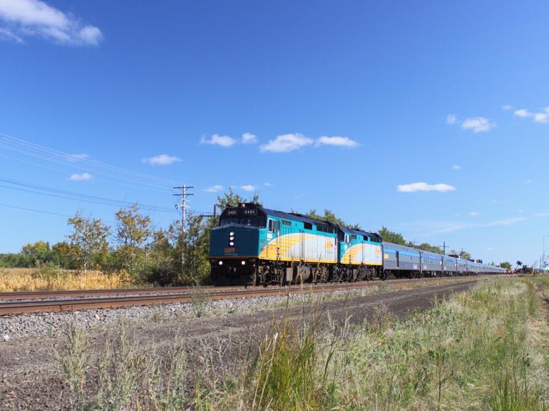 VIA 6425 in Winnipeg