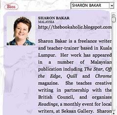 Singapore Writers Festival  Sharon Bakar