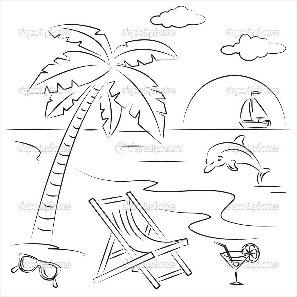 Beach Scene Coloring Pages at GetColorings.com | Free ...