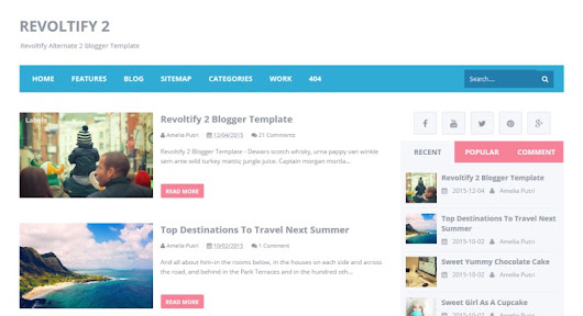 Revoltify Alternate 2 Blogger Template • Blogspot Templates 2016